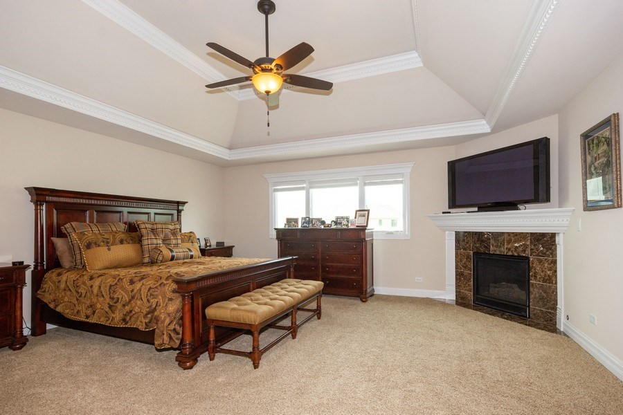 Real Estate Photography - 12900 Peppertree Drive, Plainfield, IL, 60585 - Master Bedroom
