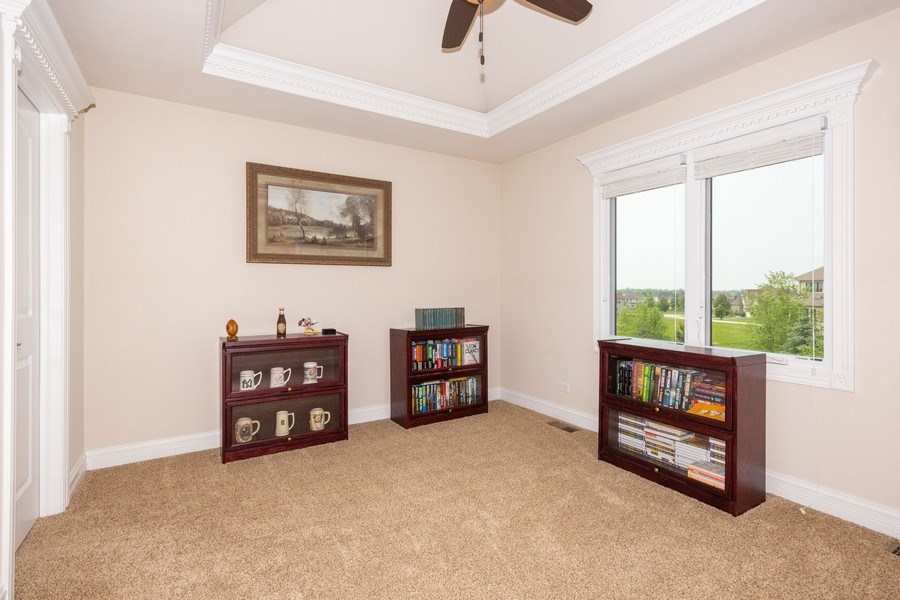 Real Estate Photography - 12900 Peppertree Drive, Plainfield, IL, 60585 - Master bedroom sitting room