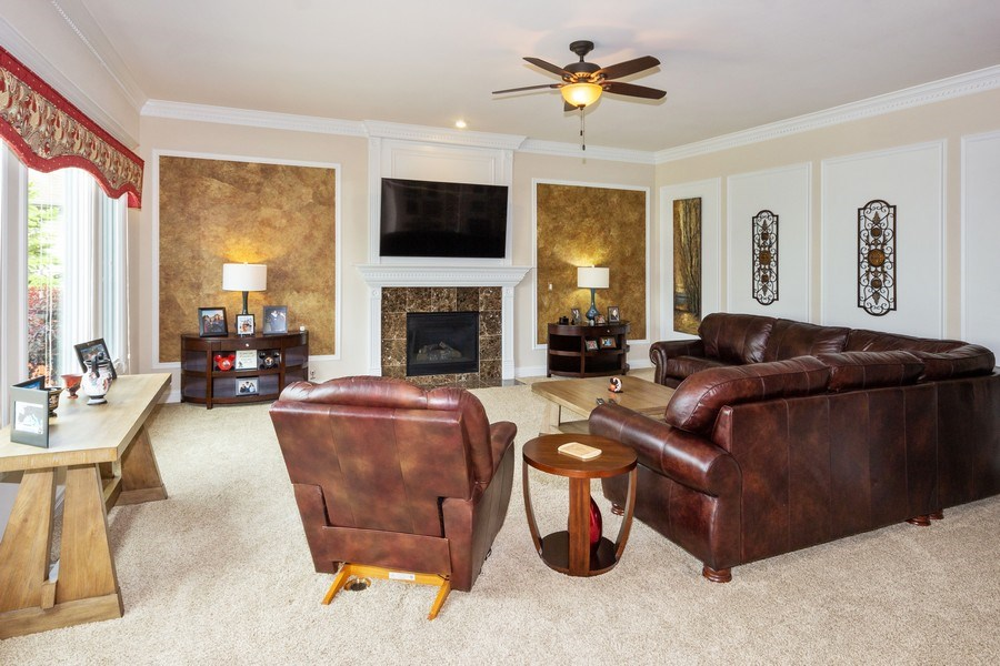 Real Estate Photography - 12900 Peppertree Drive, Plainfield, IL, 60585 - Family Room