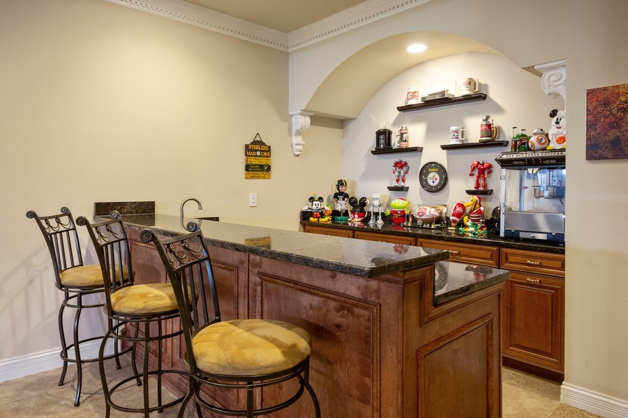 Real Estate Photography - 12900 Peppertree Drive, Plainfield, IL, 60585 - Bar
