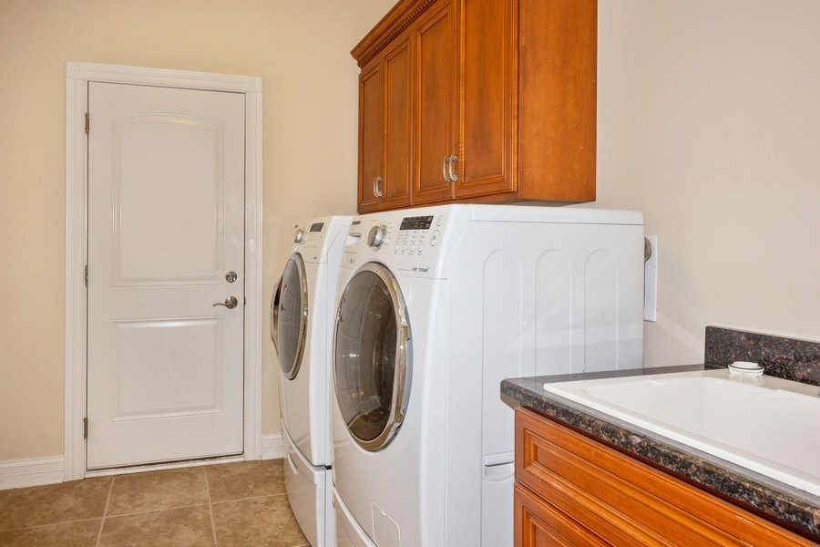 Real Estate Photography - 12900 Peppertree Drive, Plainfield, IL, 60585 - Laundry Room
