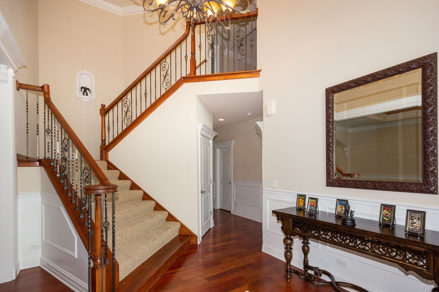 Real Estate Photography - 12900 Peppertree Drive, Plainfield, IL, 60585 - Staircase