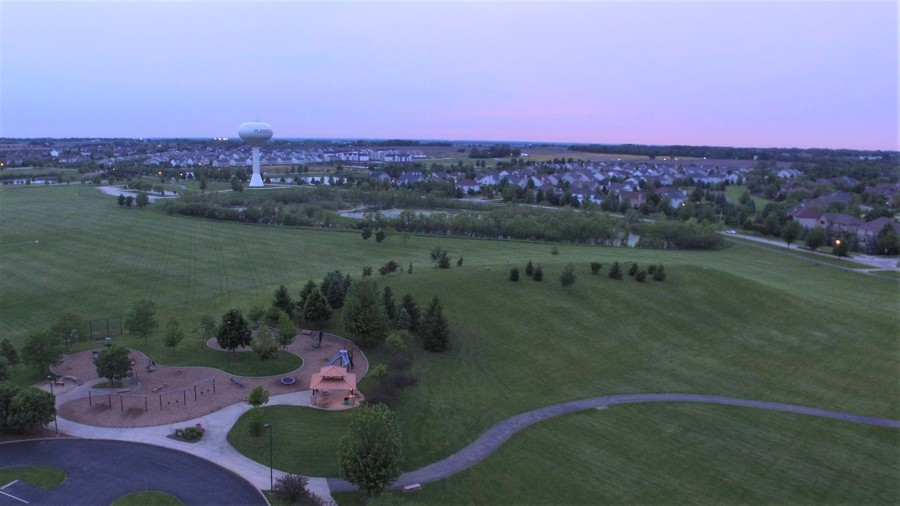 Real Estate Photography - 12900 Peppertree Drive, Plainfield, IL, 60585 - Park and sledding hill