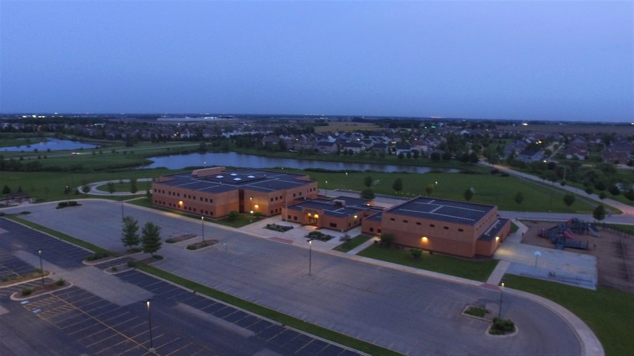 Real Estate Photography - 12900 Peppertree Drive, Plainfield, IL, 60585 - Onsite elementary school