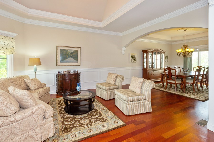 Real Estate Photography - 12900 Peppertree Drive, Plainfield, IL, 60585 - Living Room / Dining Room