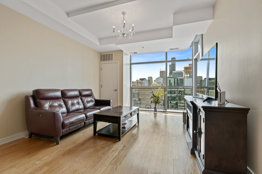 Real Estate Photography - 303 W. Ohio Street, Unit 3005, Chicago, IL, 60654 - Living Room