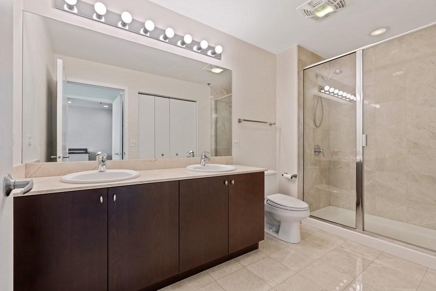 Real Estate Photography - 303 W. Ohio Street, Unit 3005, Chicago, IL, 60654 - Master Bathroom