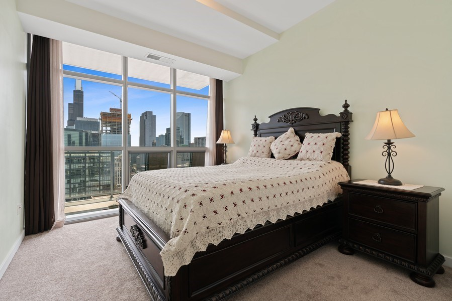 Real Estate Photography - 303 W. Ohio Street, Unit 3005, Chicago, IL, 60654 - Master Bedroom