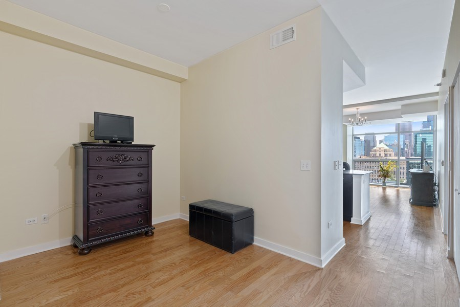 Real Estate Photography - 303 W. Ohio Street, Unit 3005, Chicago, IL, 60654 - Den