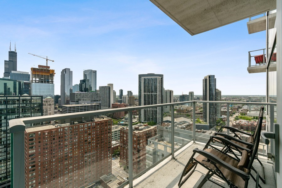 Real Estate Photography - 303 W. Ohio Street, Unit 3005, Chicago, IL, 60654 - Balcony