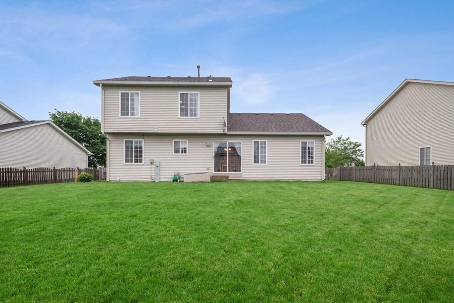 Real Estate Photography - 1457 CROWFOOT Lane, Minooka, IL, 60447 - Rear View
