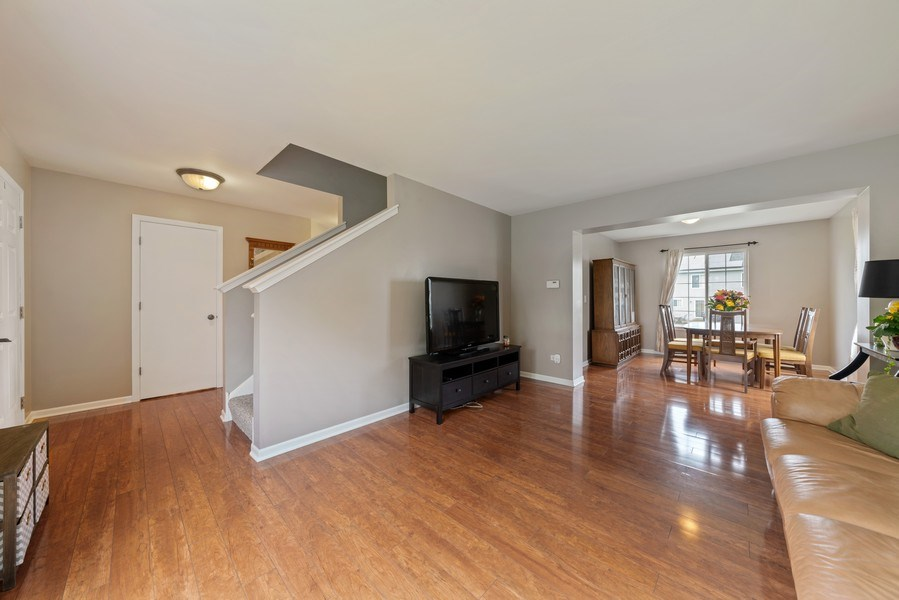 Real Estate Photography - 1457 CROWFOOT Lane, Minooka, IL, 60447 - Foyer / Living Room / Dining Room
