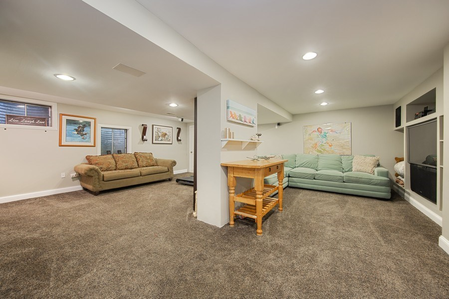 Real Estate Photography - 1517 Terrance Drive, Naperville, IL, 60565 - Finished Basement