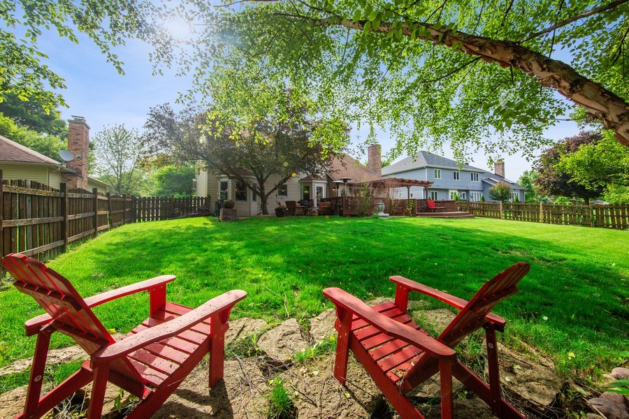 Real Estate Photography - 1517 Terrance Drive, Naperville, IL, 60565 - Fenced Yard
