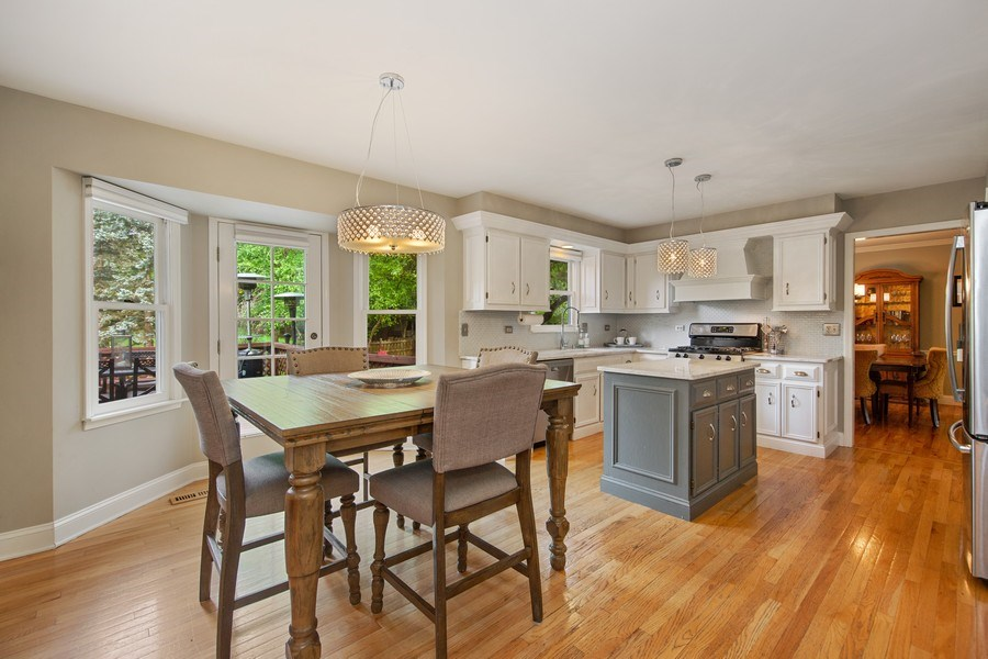 Real Estate Photography - 1517 Terrance Drive, Naperville, IL, 60565 - Eating Area and Kitchen