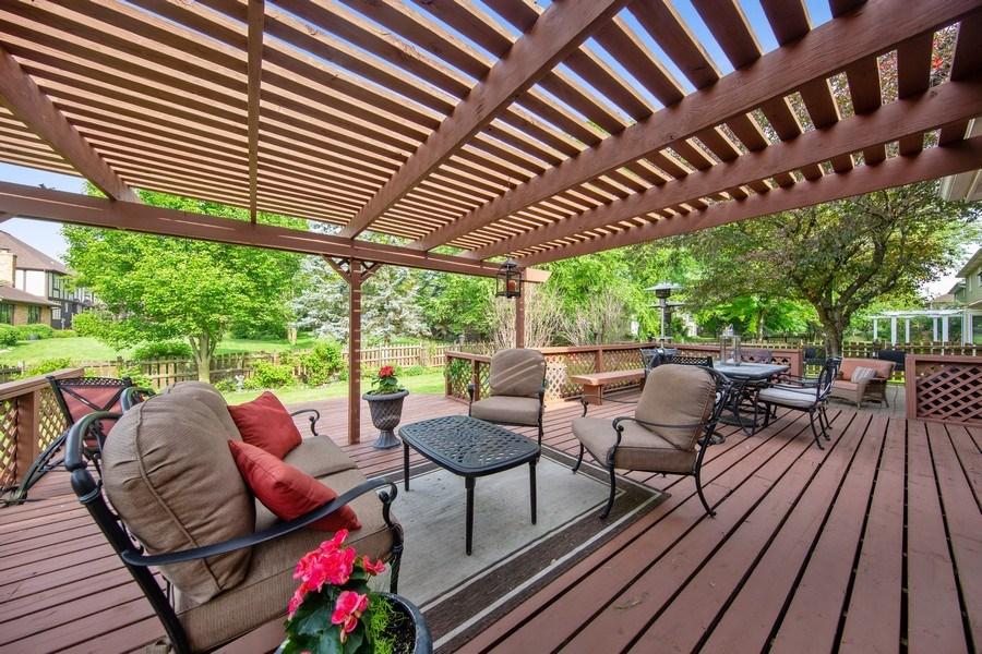 Real Estate Photography - 1517 Terrance Drive, Naperville, IL, 60565 - Deck
