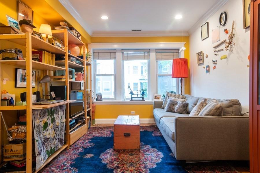 Real Estate Photography - 3652 W. BELLE PLAINE Avenue, Unit 204, Chicago, IL, 60618 - Living Room