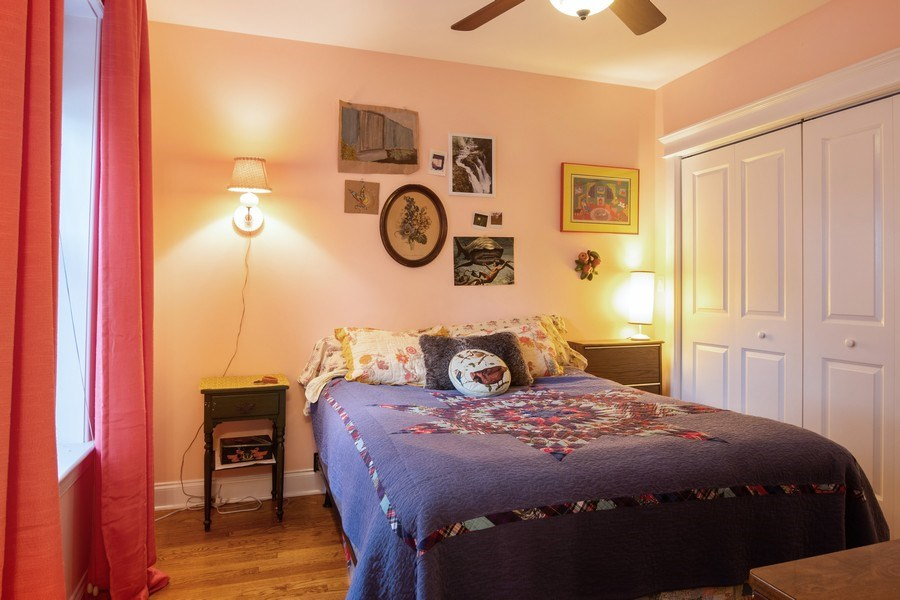 Real Estate Photography - 3652 W. BELLE PLAINE Avenue, Unit 204, Chicago, IL, 60618 - Master Bedroom