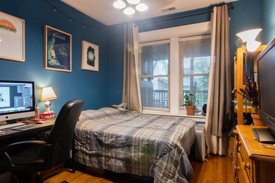 Real Estate Photography - 3652 W. BELLE PLAINE Avenue, Unit 204, Chicago, IL, 60618 - Bedroom