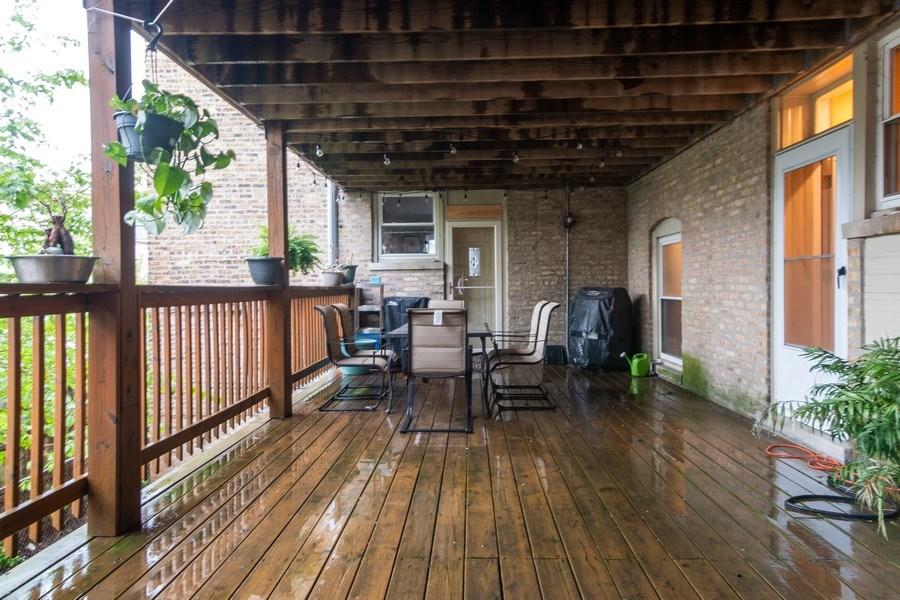 Real Estate Photography - 3652 W. BELLE PLAINE Avenue, Unit 204, Chicago, IL, 60618 - Deck