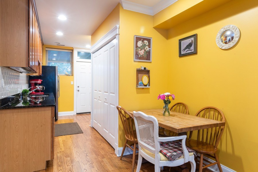 Real Estate Photography - 3652 W. BELLE PLAINE Avenue, Unit 204, Chicago, IL, 60618 - Kitchen/Dining