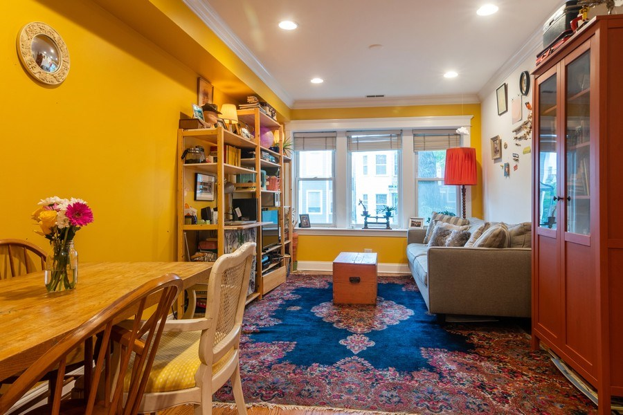 Real Estate Photography - 3652 W. BELLE PLAINE Avenue, Unit 204, Chicago, IL, 60618 - Living Room / Dining Room