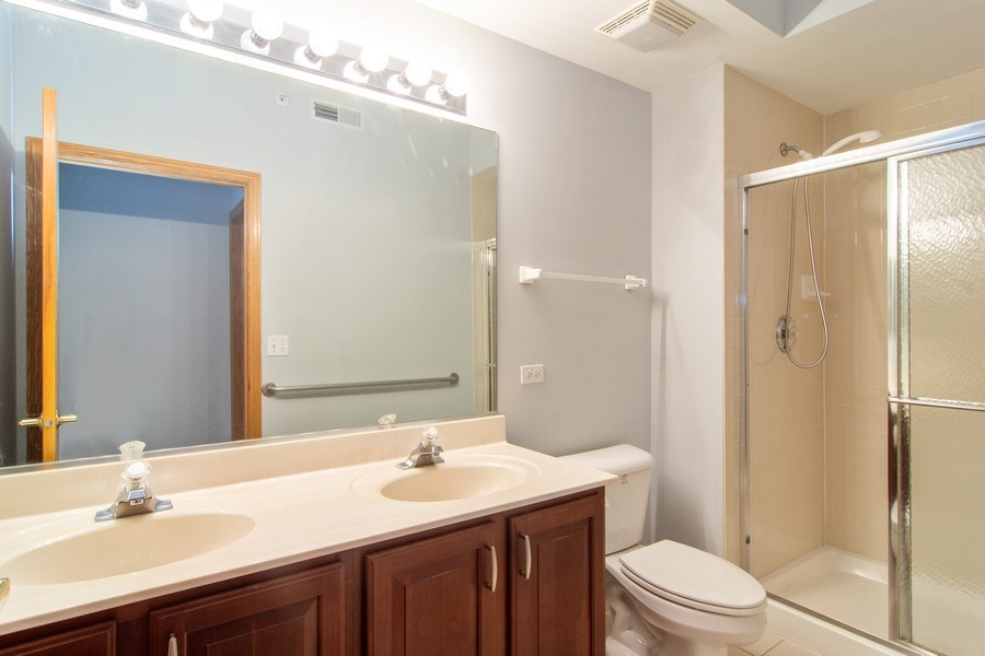Real Estate Photography - 3401 N. Carriageway Drive, Unit 303, Arlington Heights, IL, 60004 - Master Bathroom