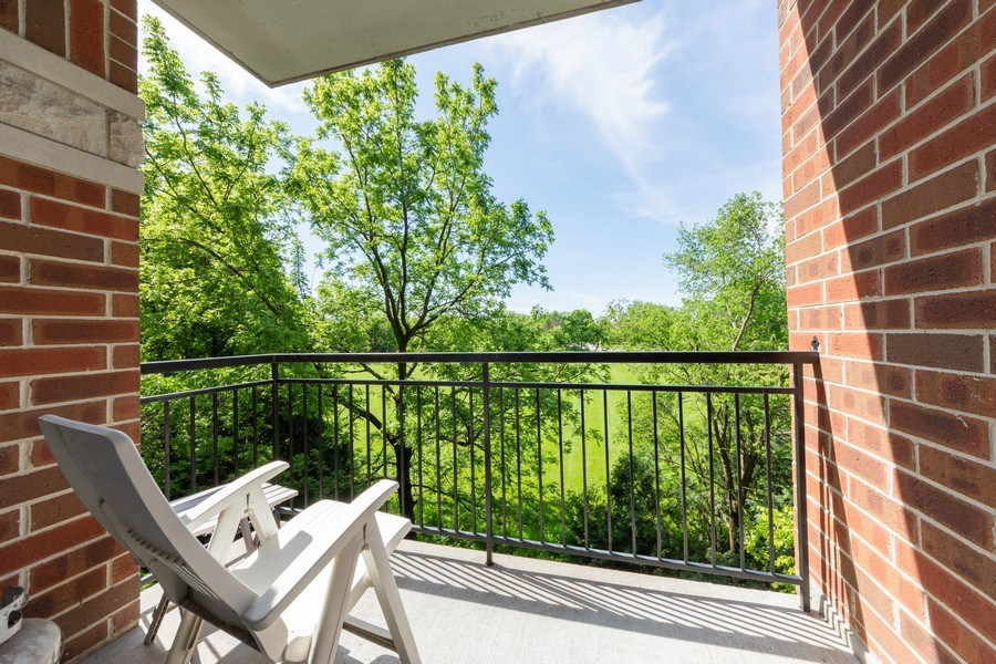 Real Estate Photography - 3401 N. Carriageway Drive, Unit 303, Arlington Heights, IL, 60004 - Balcony