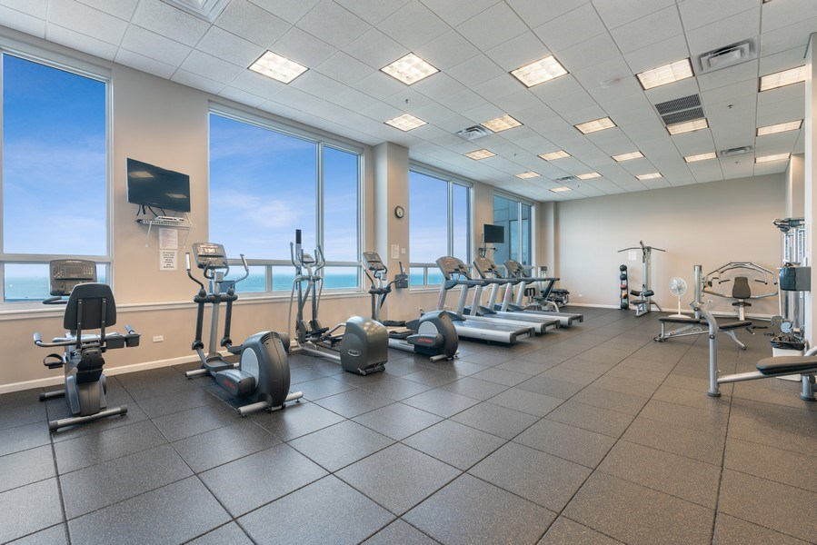 Real Estate Photography - 1841 South Calumet Ave, 2205, Chicago, IL, 60616 - Gym