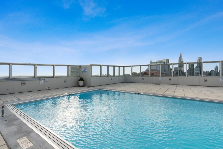 Real Estate Photography - 1841 South Calumet Ave, 2205, Chicago, IL, 60616 - Pool