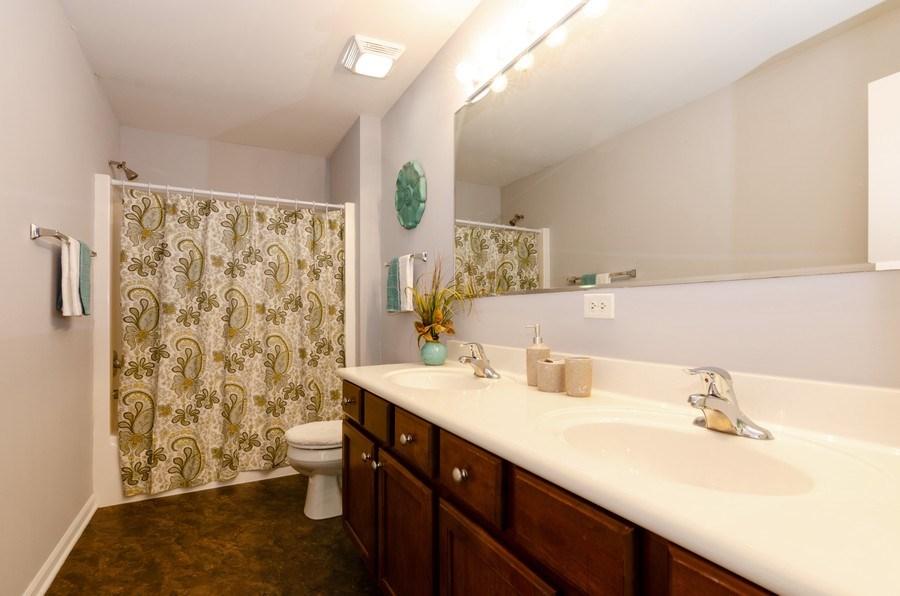 Real Estate Photography - 3136 Valley Falls Street, Elgin, IL, 60124 - Master Bathroom
