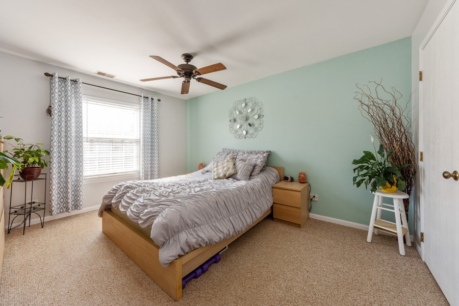 Real Estate Photography - 719 E. Whispering Oaks Drive, Unit 2RY, Palatine, IL, 60074 - Master Bedroom