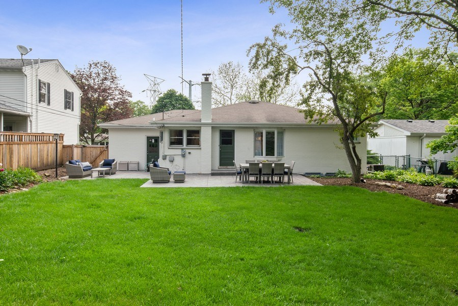 Real Estate Photography - 336 Indian Drive, Glen Ellyn, IL, 60137 - Rear View