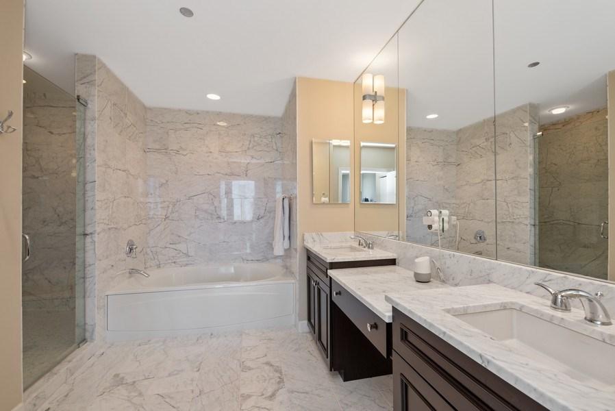 Real Estate Photography - 1211 S. Prairie Avenue, Unit 5005, Chicago, IL, 60605 - Master Bathroom