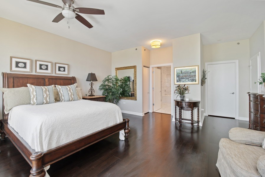 Real Estate Photography - 1211 S. Prairie Avenue, Unit 5005, Chicago, IL, 60605 - Master Bedroom