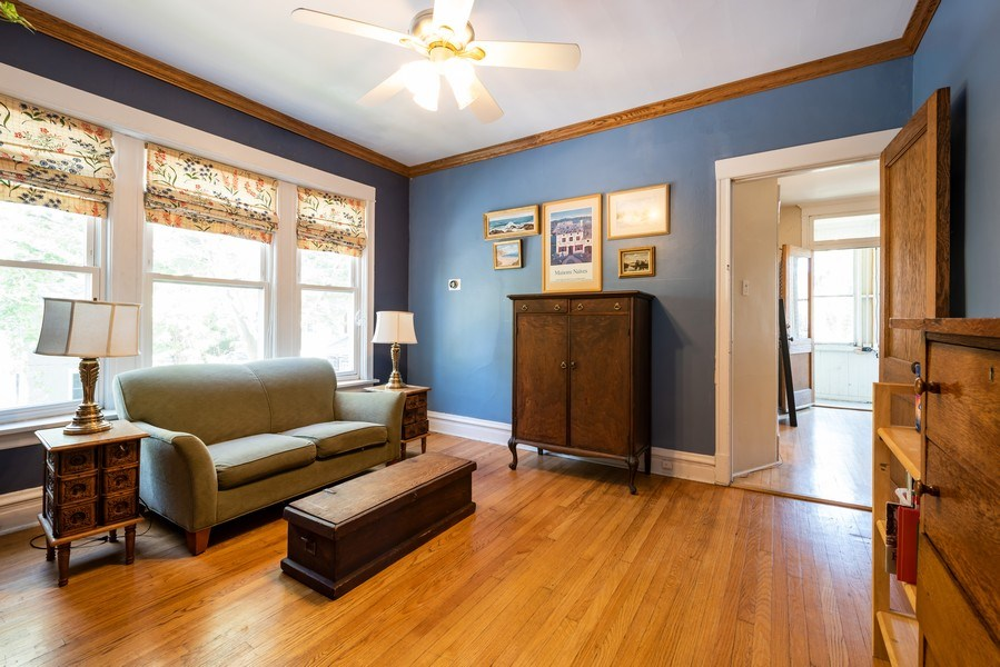 Real Estate Photography - 1456 W. Thome Avenue, Chicago, IL, 60660 - Library - 2nd Floor