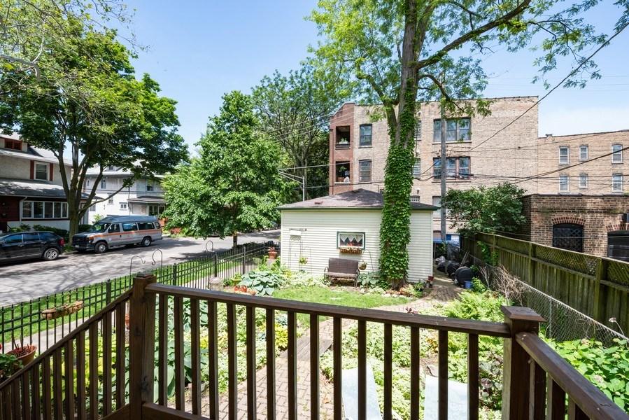 Real Estate Photography - 1456 W. Thome Avenue, Chicago, IL, 60660 - Backyard/ Garage