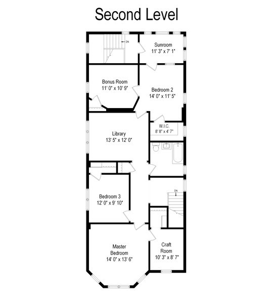Real Estate Photography - 1456 W. Thome Avenue, Chicago, IL, 60660 - Floor Plan