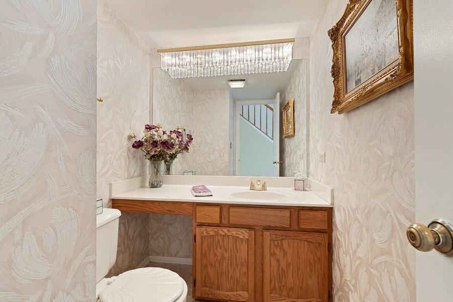 Real Estate Photography - 1163 Donegal Lane, Barrington, IL, 60010 - Half Bath