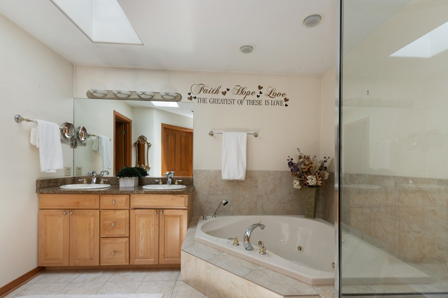 Real Estate Photography - 40698 N. Gridley Drive, Antioch, IL, 60002 - Master Bathroom