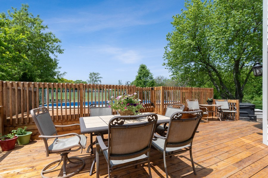 Real Estate Photography - 40698 N. Gridley Drive, Antioch, IL, 60002 - Deck