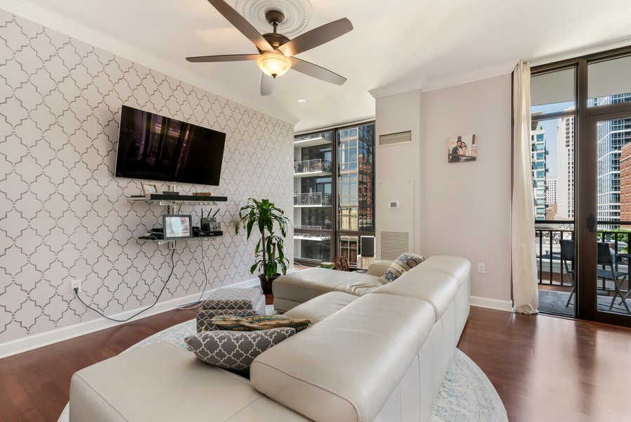 Real Estate Photography - 233 E. 13th Street, Unit 610, Chicago, IL, 60605 - Living Room