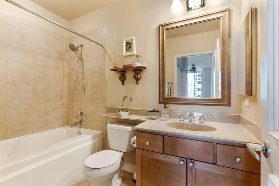 Real Estate Photography - 233 E. 13th Street, Unit 610, Chicago, IL, 60605 - Master Bathroom