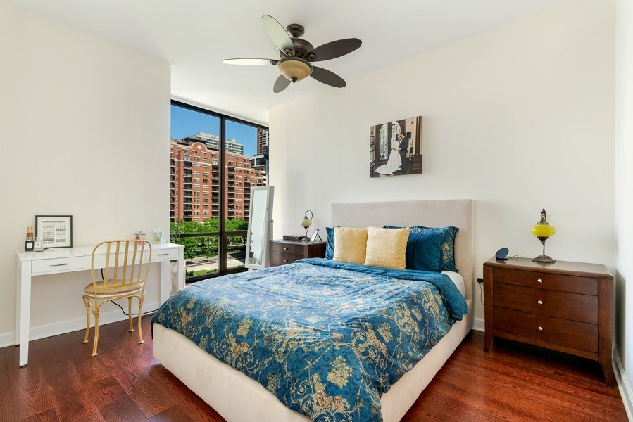 Real Estate Photography - 233 E. 13th Street, Unit 610, Chicago, IL, 60605 - Master Bedroom