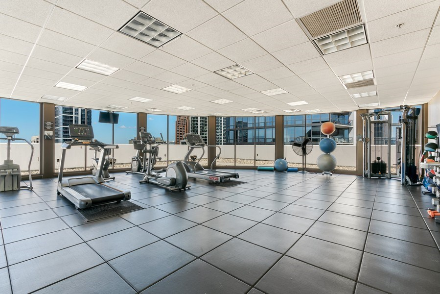 Real Estate Photography - 233 E. 13th Street, Unit 610, Chicago, IL, 60605 - Gym