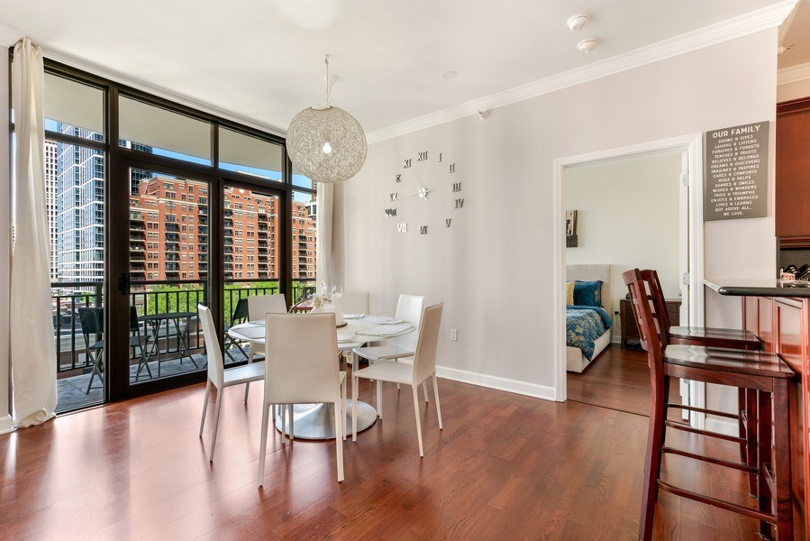Real Estate Photography - 233 E. 13th Street, Unit 610, Chicago, IL, 60605 - Dining Room