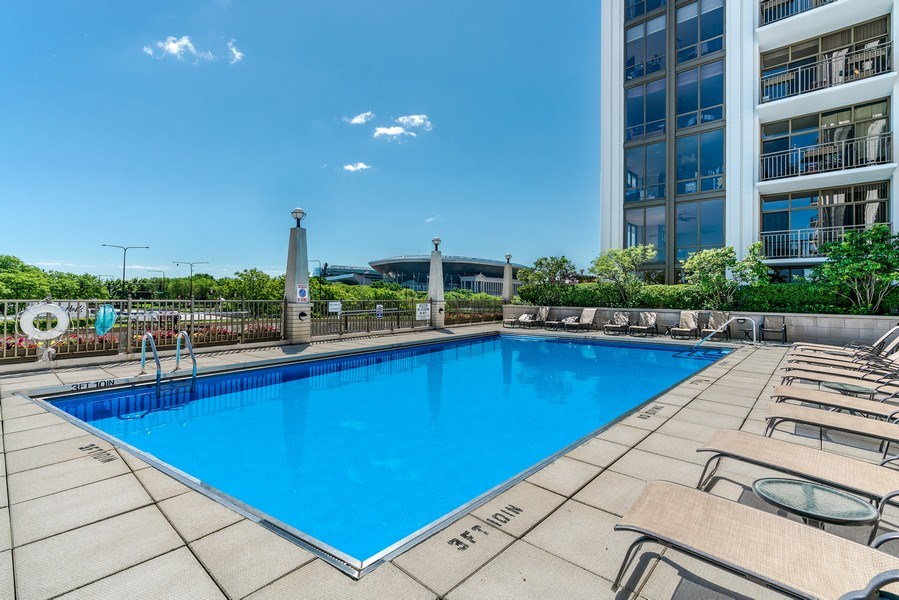 Real Estate Photography - 233 E. 13th Street, Unit 610, Chicago, IL, 60605 - Pool