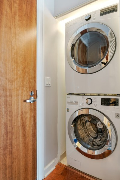 Real Estate Photography - 233 E. 13th Street, Unit 610, Chicago, IL, 60605 - Laundry Room