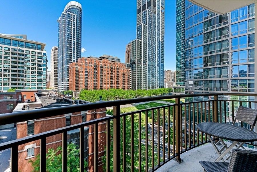 Real Estate Photography - 233 E. 13th Street, Unit 610, Chicago, IL, 60605 - Balcony