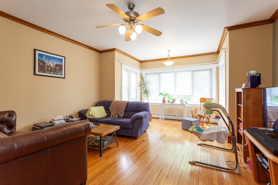 Real Estate Photography - 5040 West Cullom Ave, Chicago, IL, 60641 - Unit 2 - Living Room